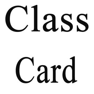 Class Cards for Group Classes