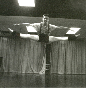 Erik Novoa in a Russian Split at The Dalton School in New York in 1991