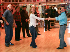 Erik Novoa & Anna Novoa teaching West Coast Swing at Smiths Dancing School in Hawthorne, NY