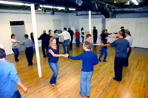 West Coast Swing dance class at Dance Dimensions in Norwalk, CT