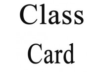 Discount Class Cards for Weekly Classes