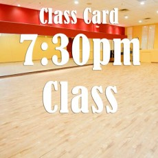 Class Card for 7:30pm: Warm Up and Solo West Coast Swing  (Beg)