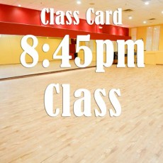 Class Card for 8:45pm: Drills and Dance Movements for West Coast Swing (Int)